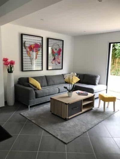 Constructeur maisons individuelles Bayeux-Pavillon témoin-Salon-Maisons Axcess