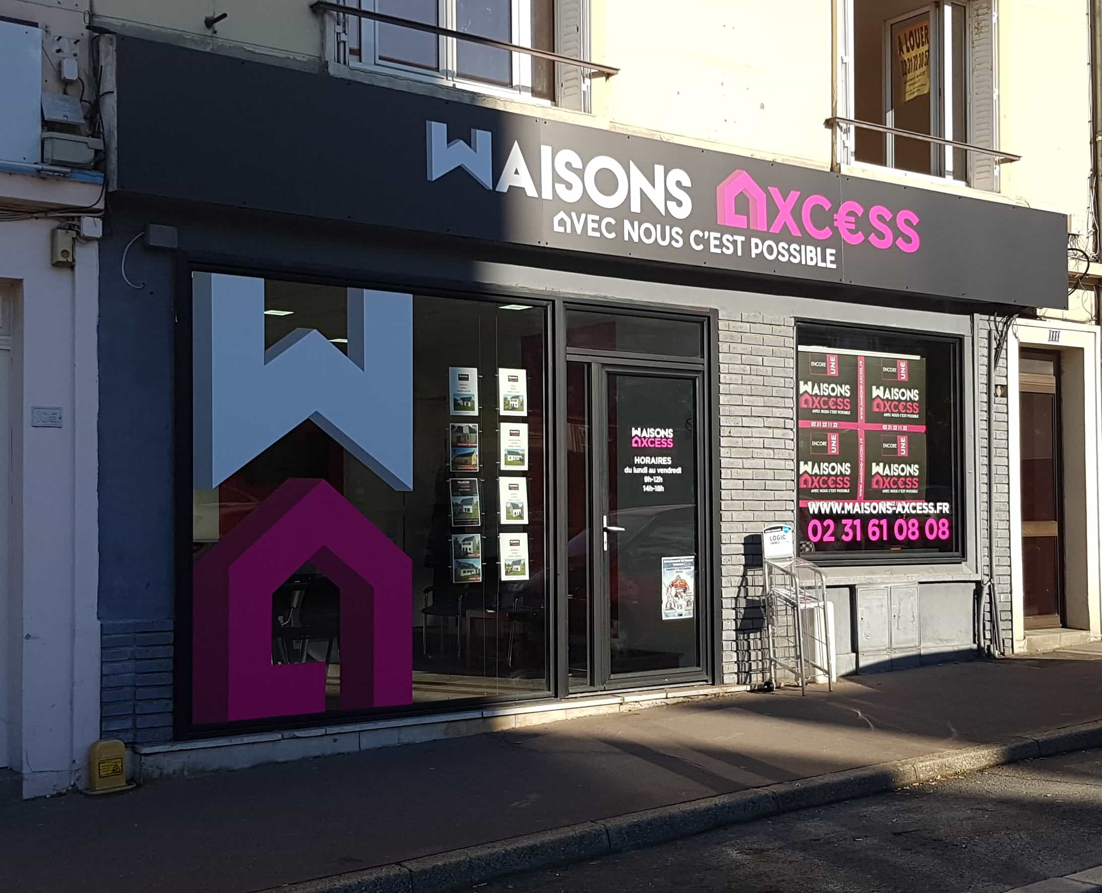 Construction maisons individuelles Caen-Maisons Axcess-Agence