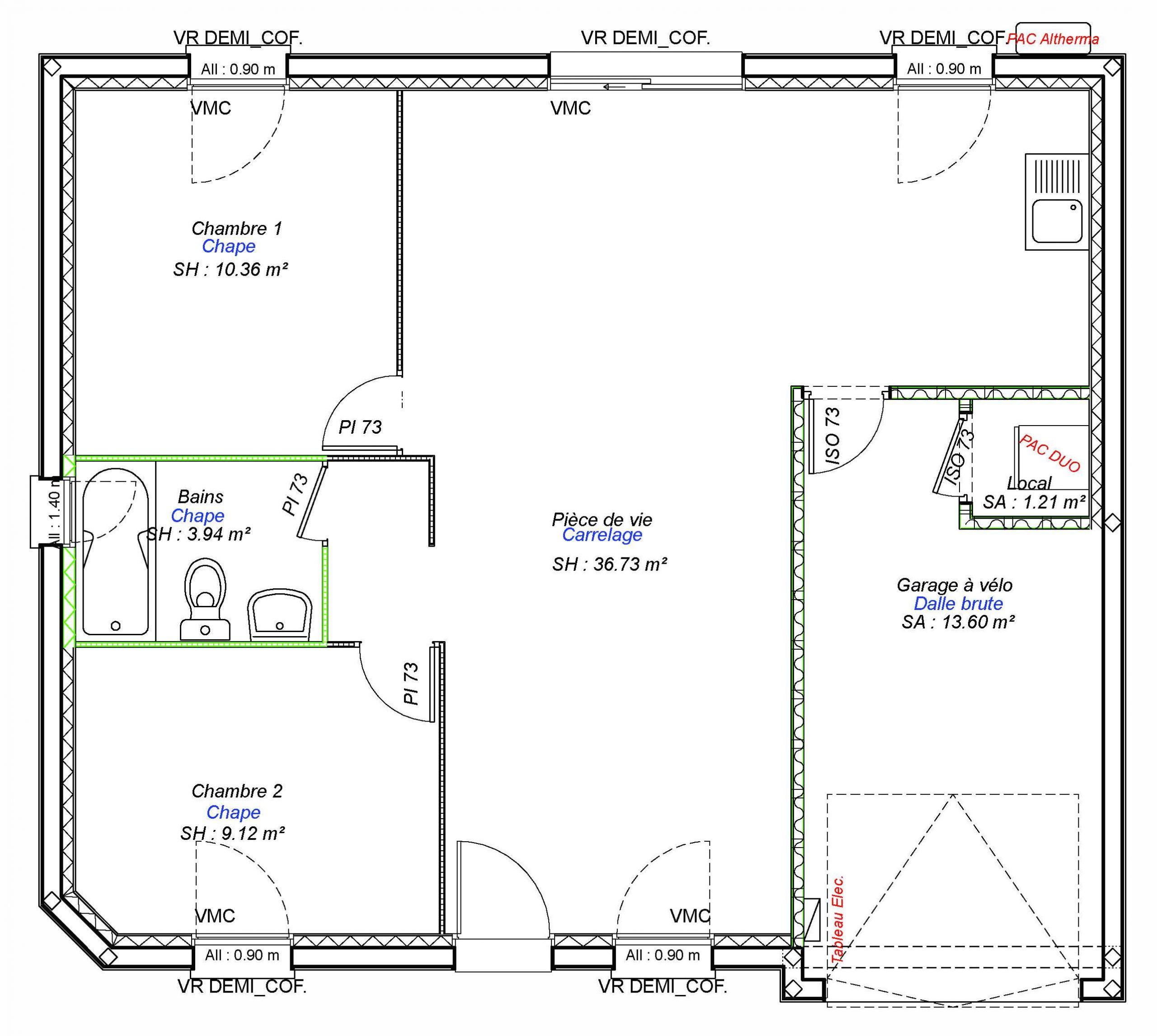 Constructeur maisons individuelles Bayeux-COZI-AXCESS 2CH+GI 60 M²-3