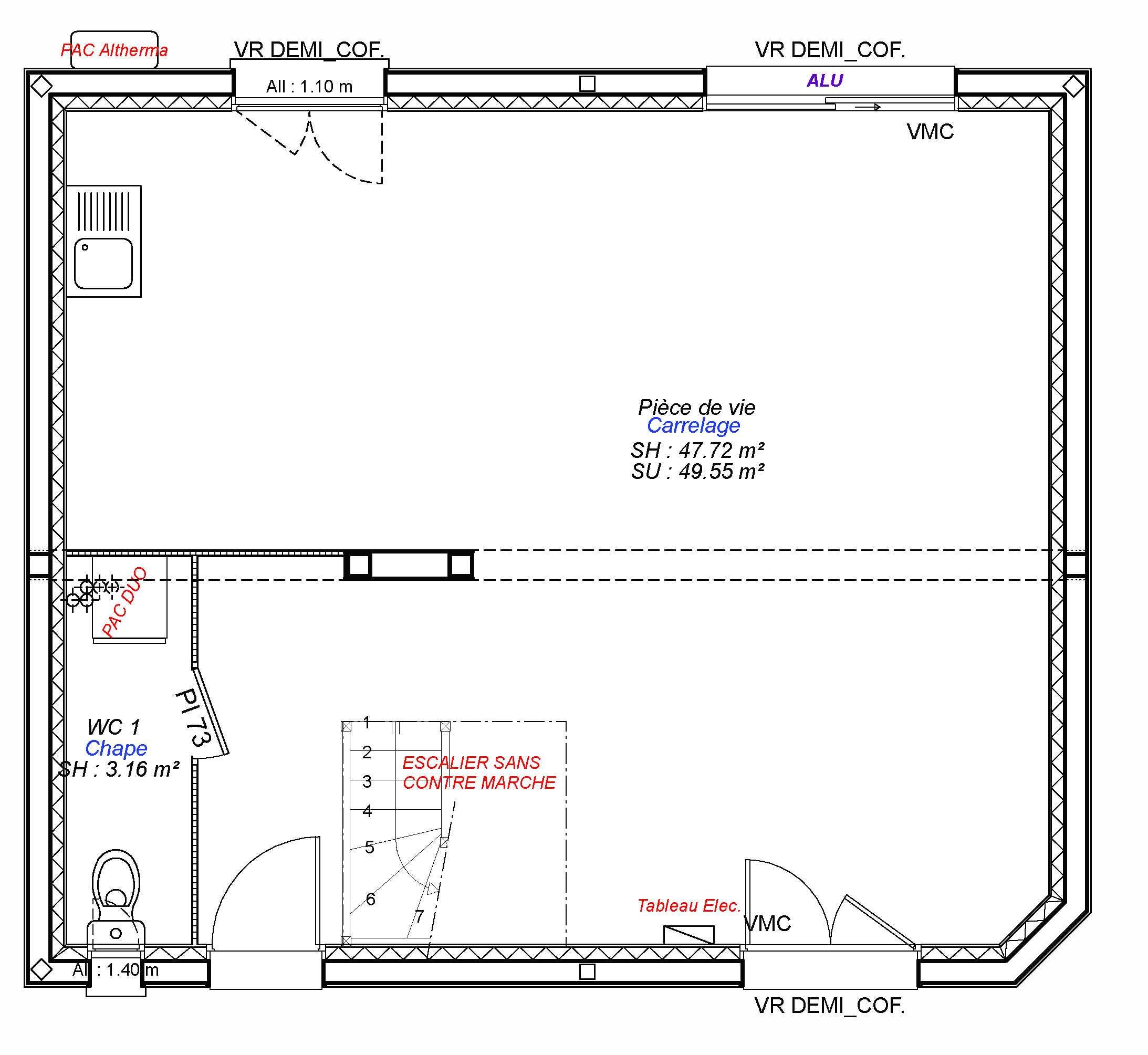 Constructeur maisons individuelles Bayeux-FAMILY-AXCESS 3CH 89 M²- rdc