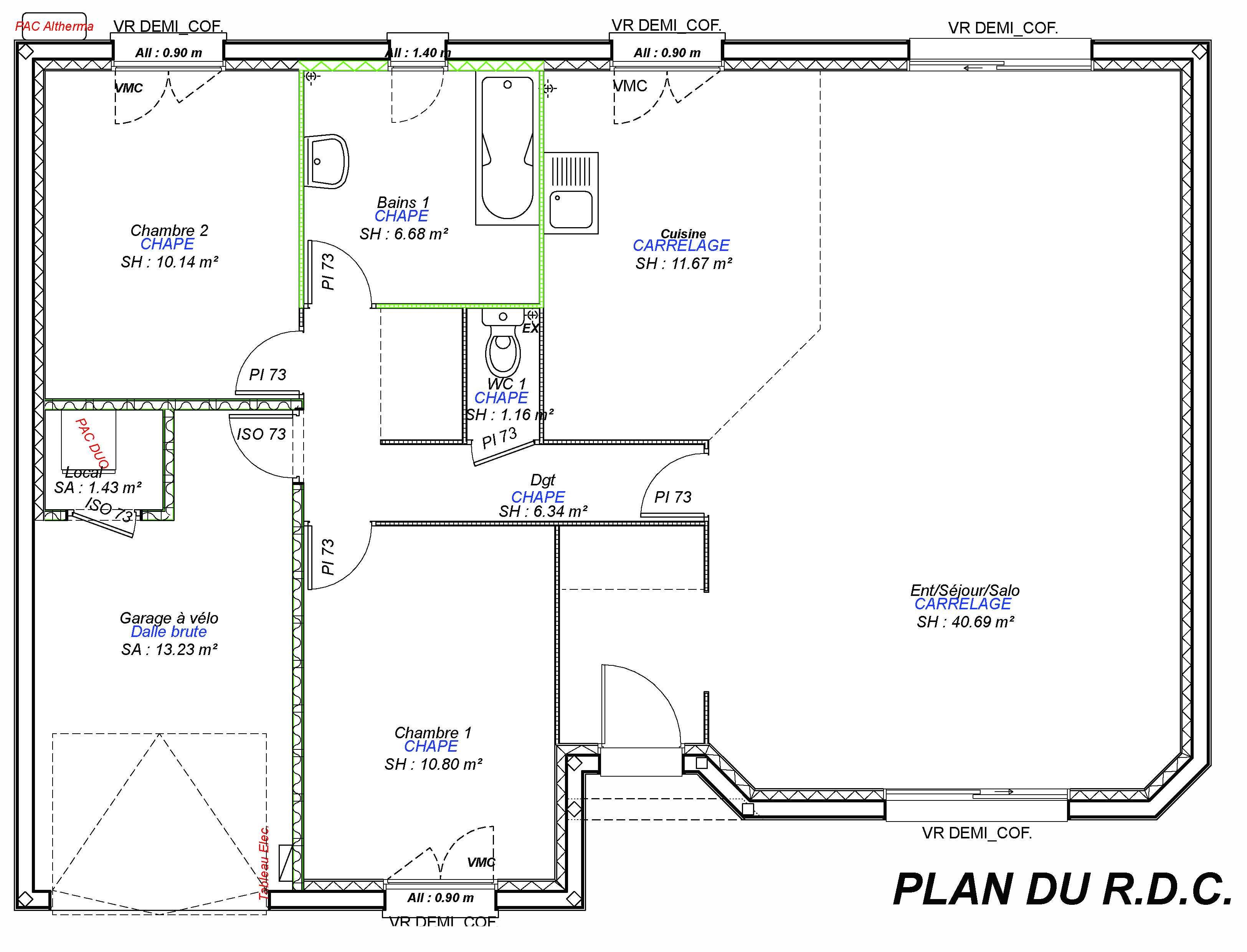 Constructeur maisons individuelles Bayeux-LOUNGE-AXCESS 2CH+GI 87 M²-3
