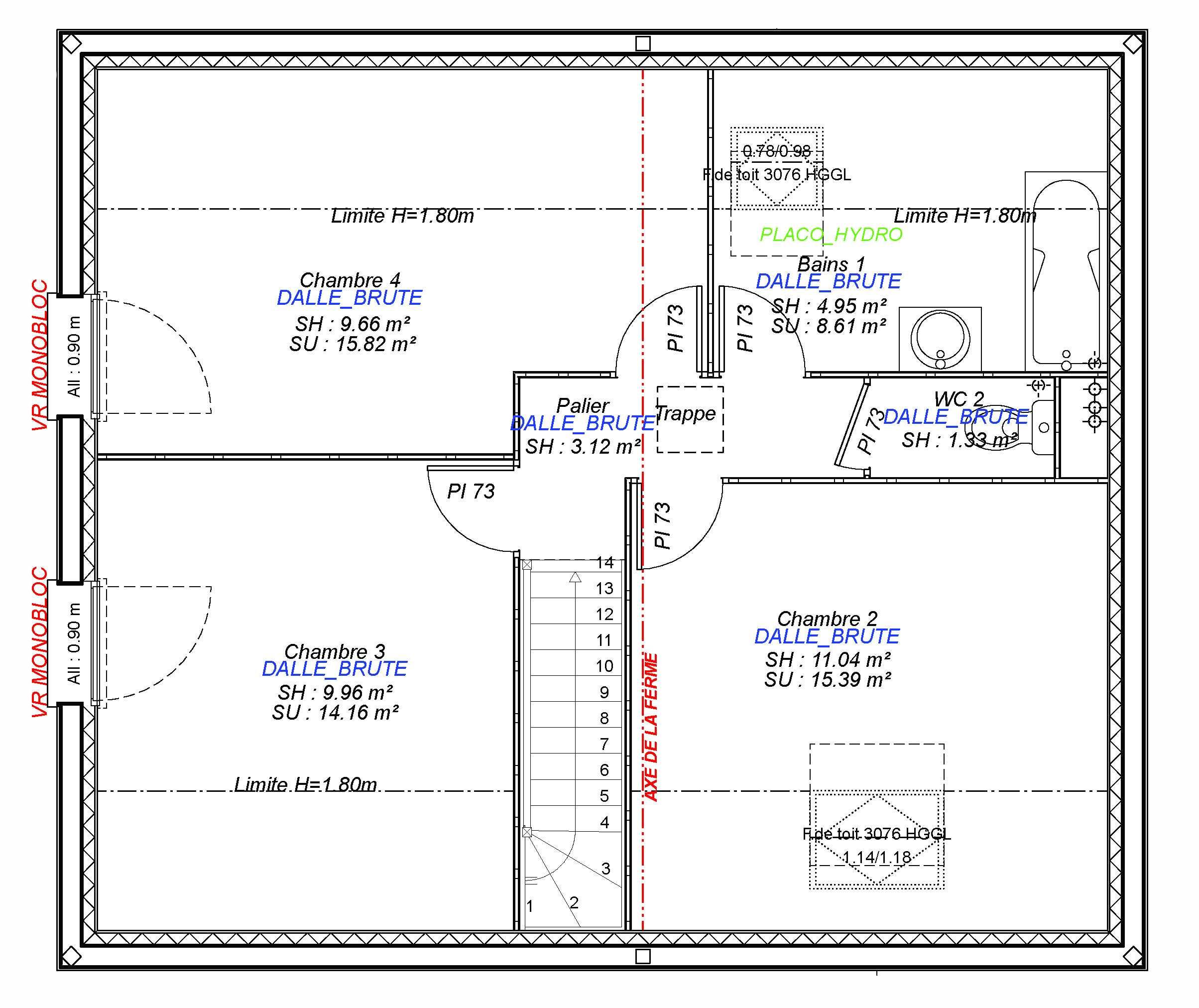 Constructeur maisons individuelles Bayeux-MARGOT 100 M² étage