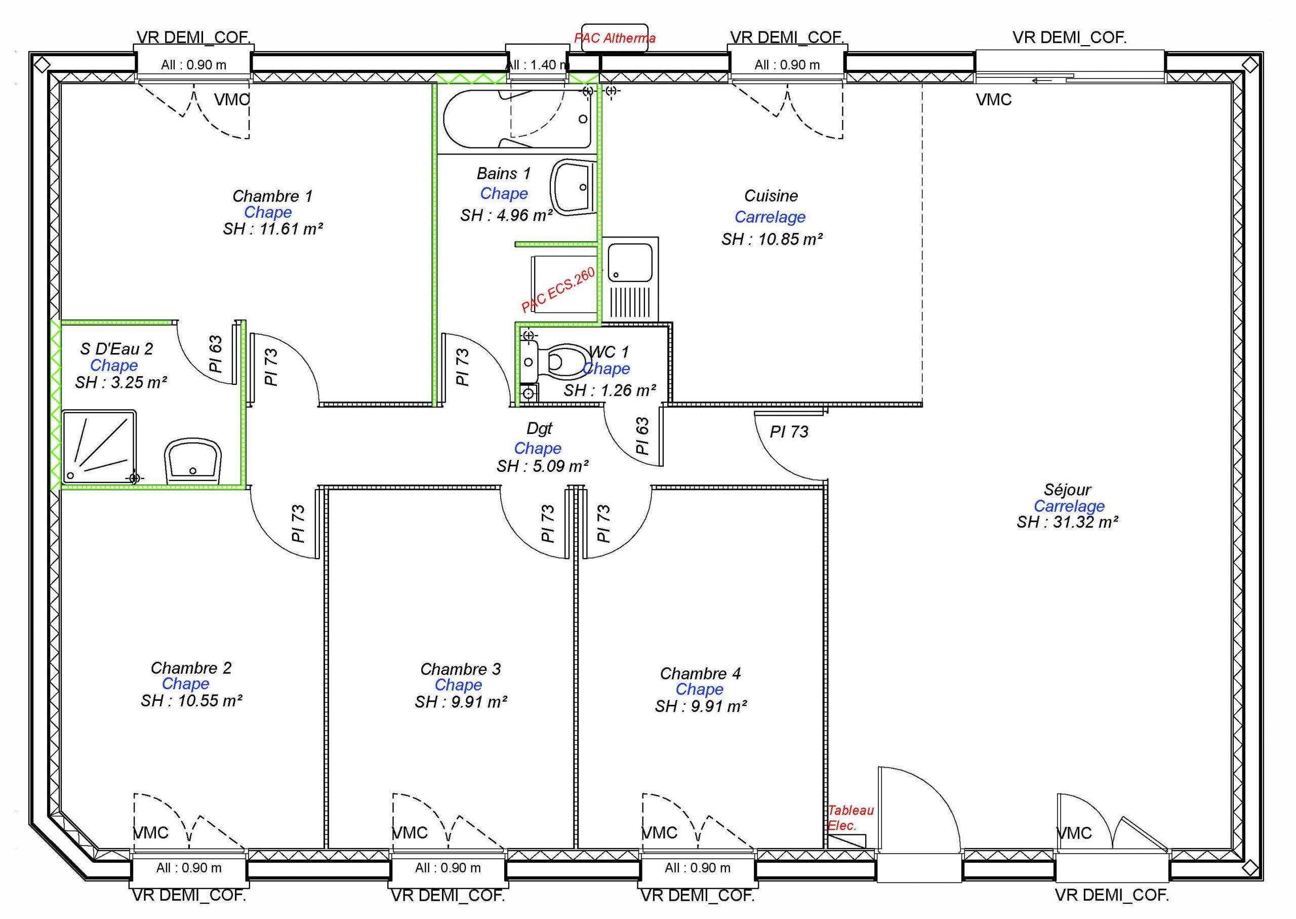 Constructeur maisons individuelles Bayeux-ONE-AXCESS 4CH 98 M²-3
