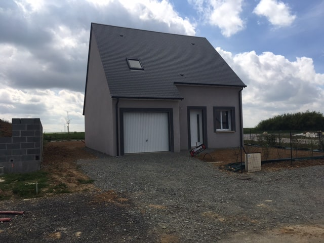 Constructeur maisons individuelles Bayeux-WELCOME 93m² revêtement gris Niagara