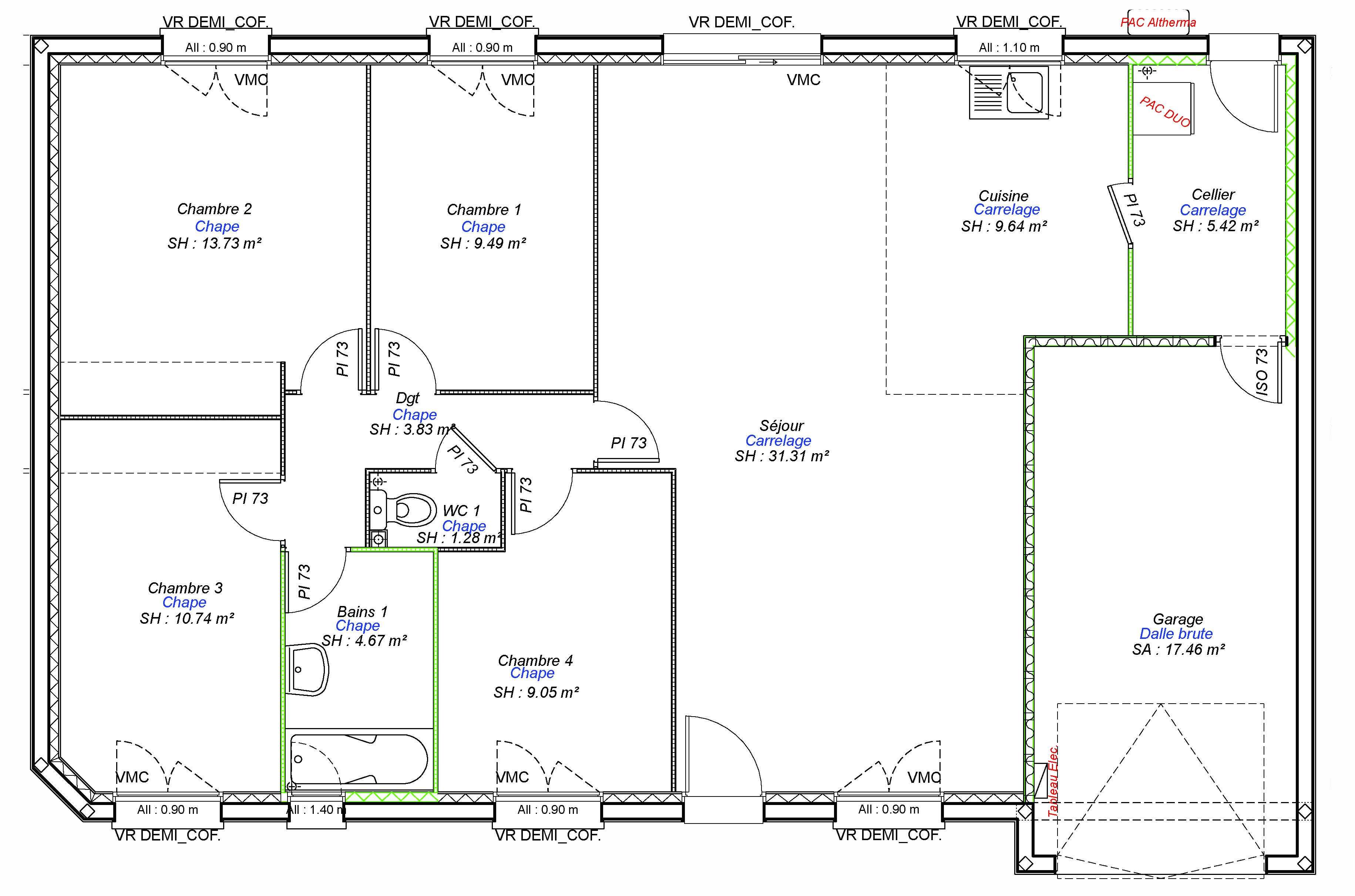 Constructeur maisons individuelles Caen-COZI-AXCESS 4CH+GI 99 M²-3