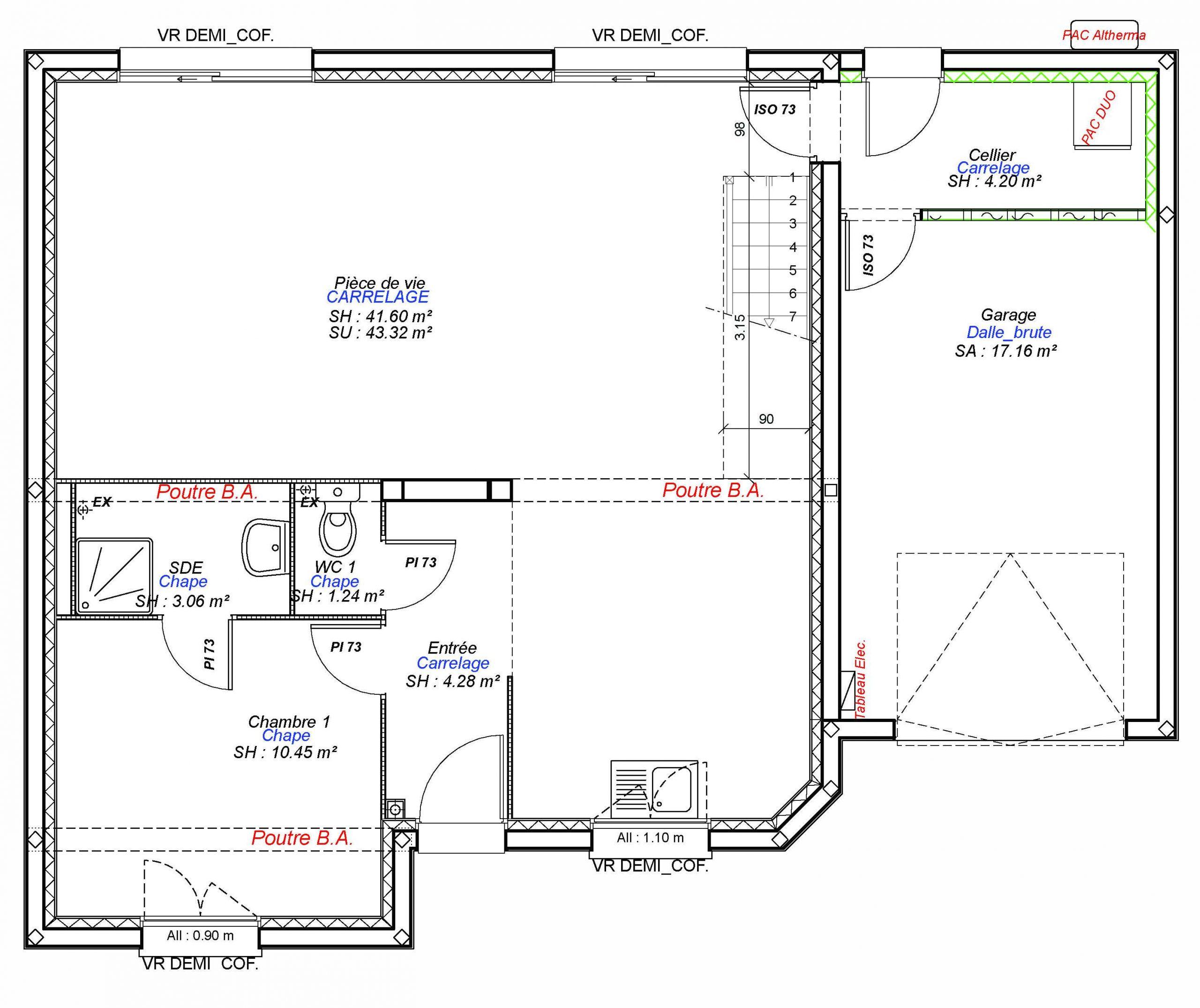 Constructeur maisons individuelles Caen-EXCLUSIVE-AXCESS 5CH+G 120 M² rdc