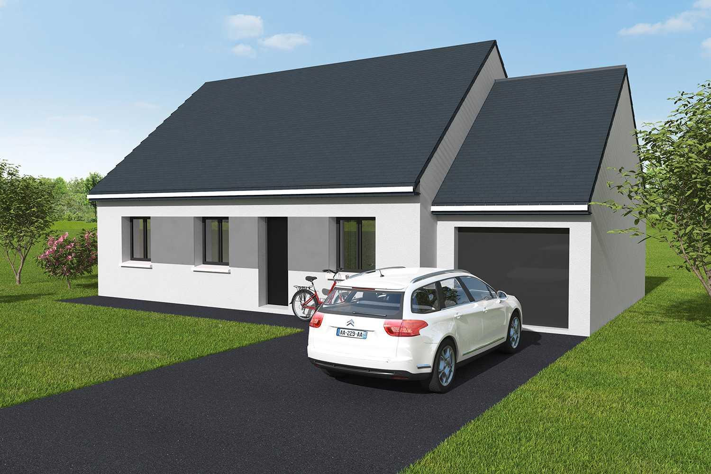 Constructeur maisons individuelles Caen-ONE 3CH+G 76 M² P2360