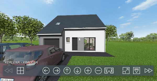 Constructeur maisons individuelles Caen-Visite virtuellles - Maison Welcome-Axcess