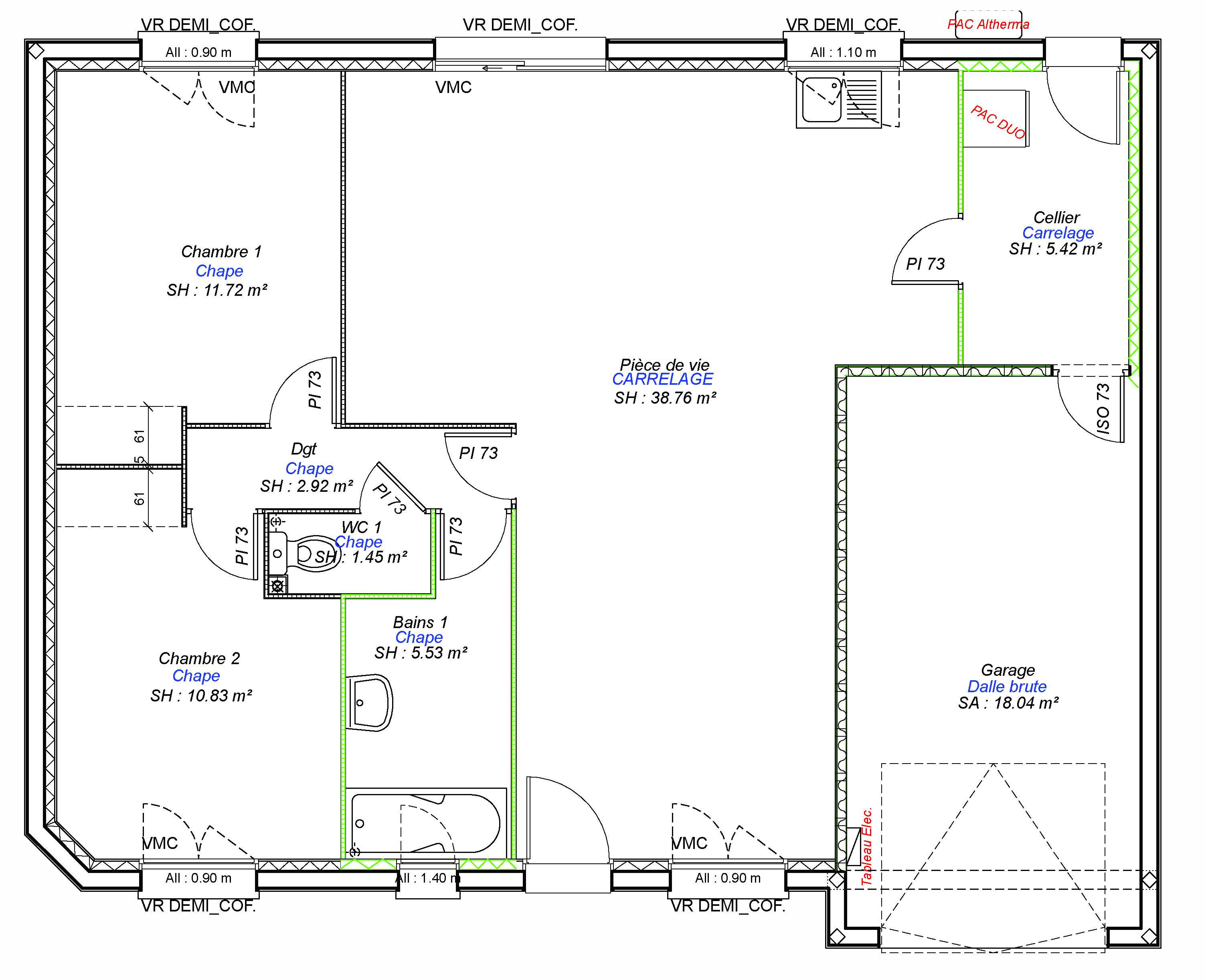 Constructeur maisons individuelles Lisieux-COZI-AXCESS 3CH+GI 76 M²-3