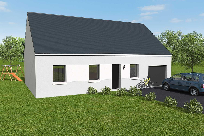 Constructeur maisons individuelles Lisieux-JADE 3CH+G 88 M² P1950