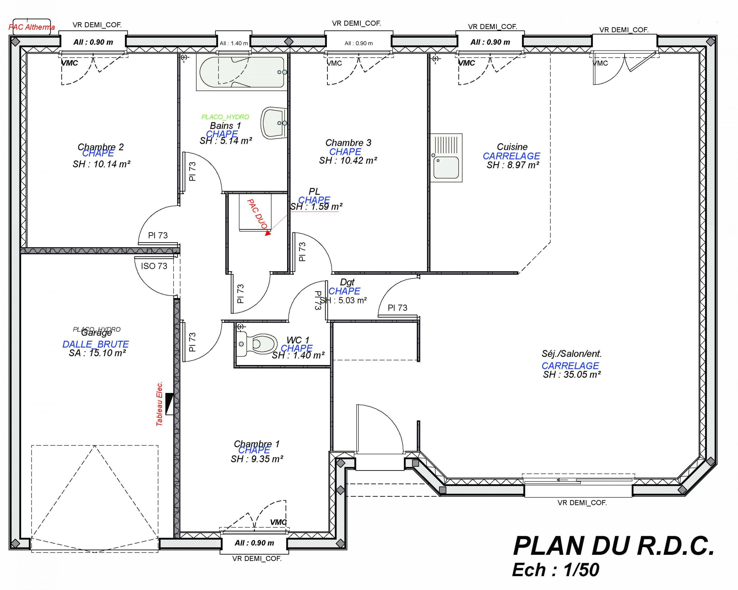 Constructeur maisons individuelles Lisieux-LOUNGE-AXCESS 3CH+GI 87 M²-3