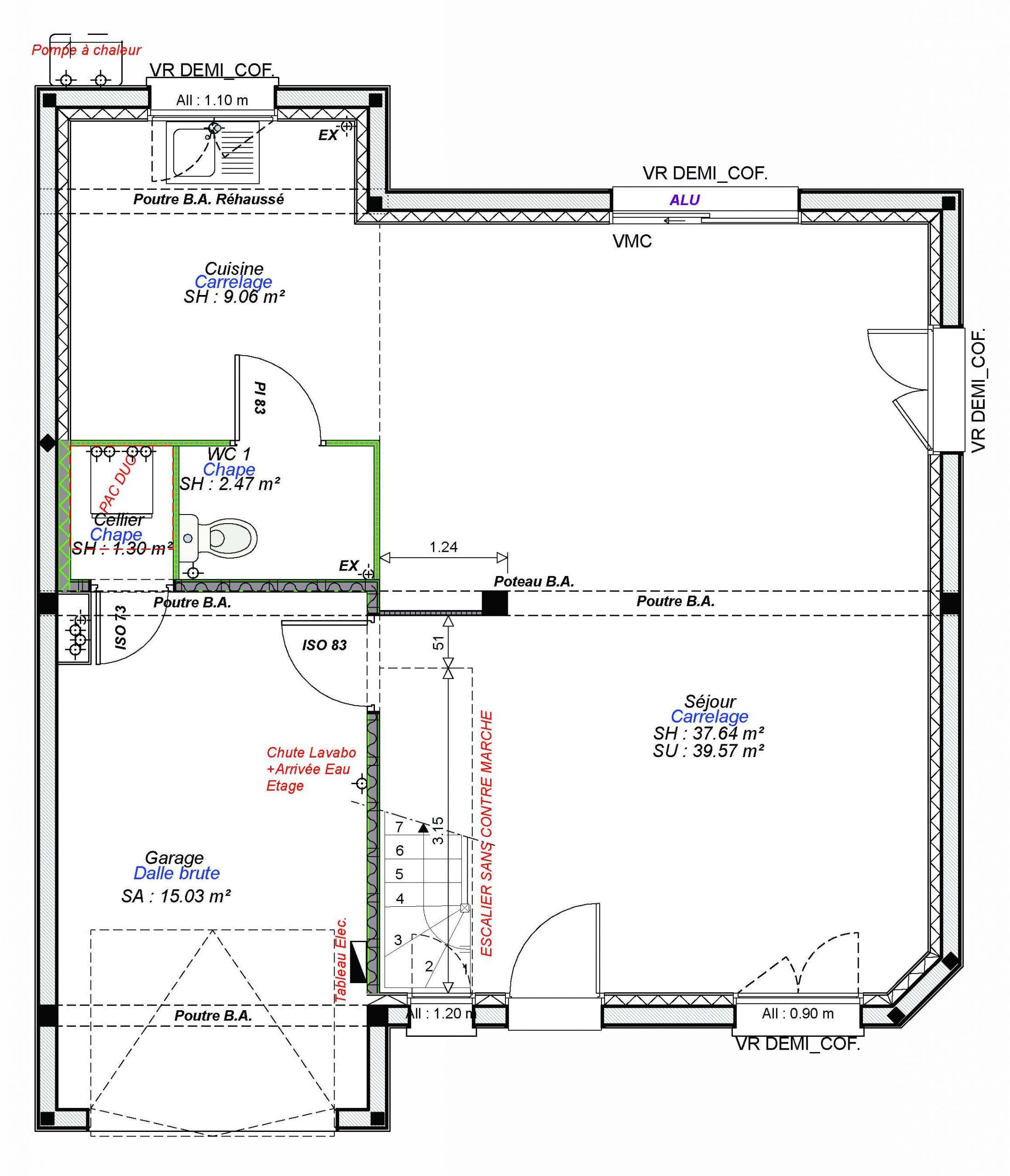 Constructeur maisons individuelles Lisieux-WELCOME-AXCESS 3CH+GI 93 M²- RDC