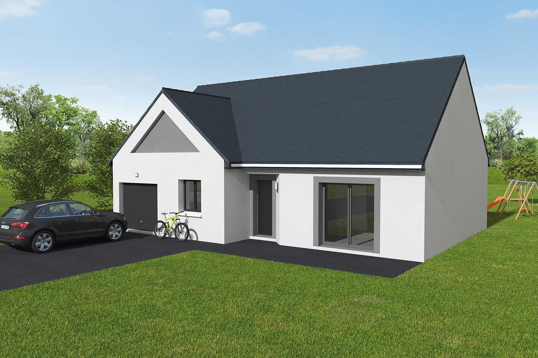 Construction maisons individuelles Bayeux-LOUNGE 3CH+GI 87 M² P2397