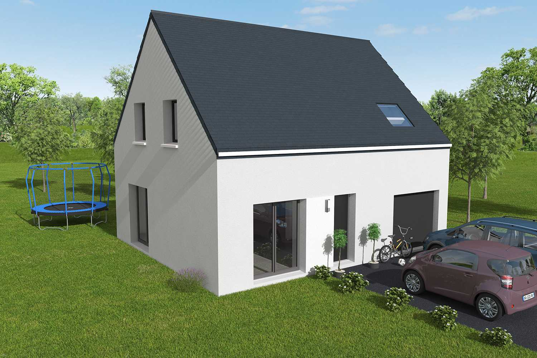 Construction maisons individuelles Caen-CESAR 3CH+GI 85 M² P2101