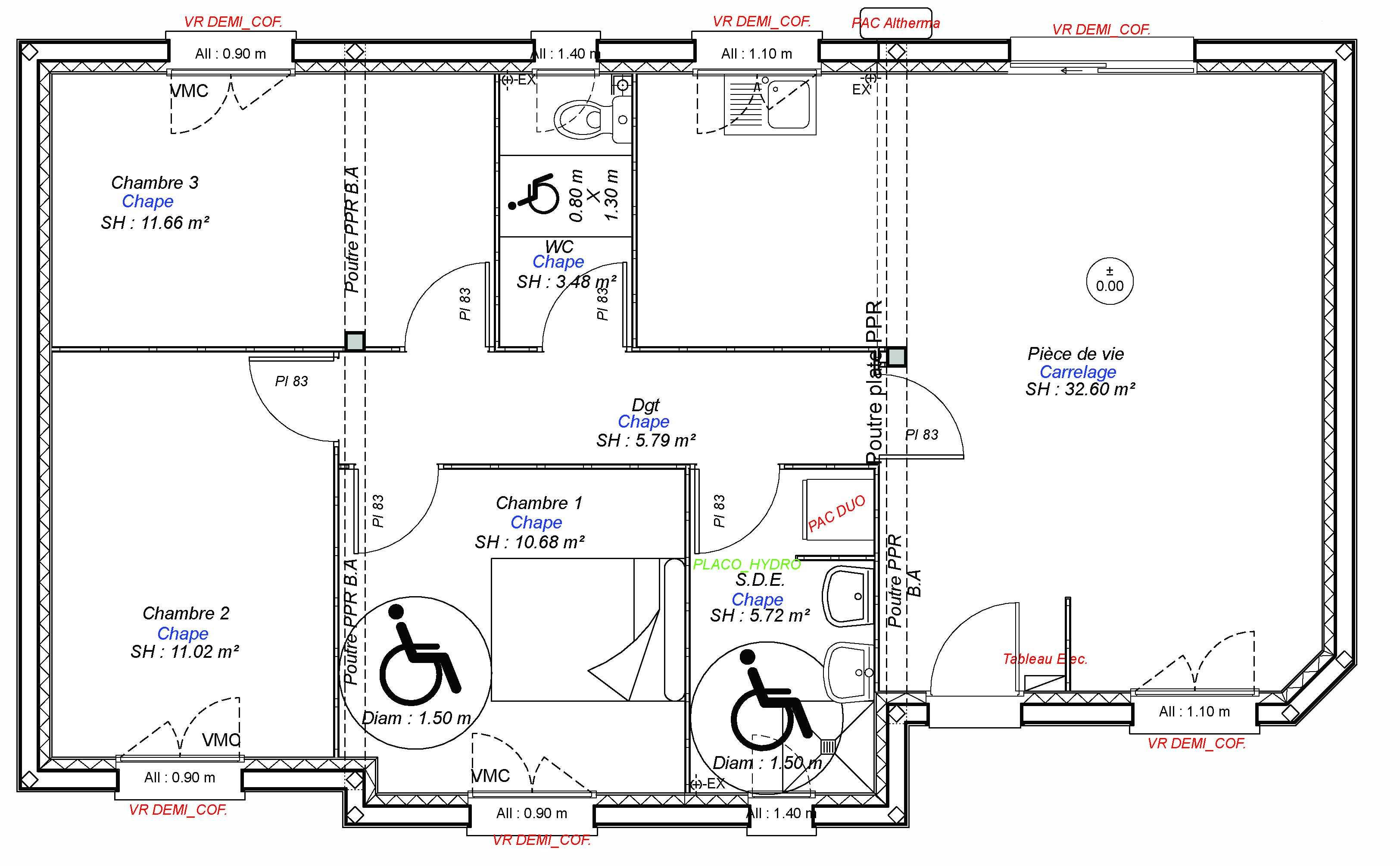 Construction maisons individuelles Caen-CONFORT-AXCESS 3CH 80 M²
