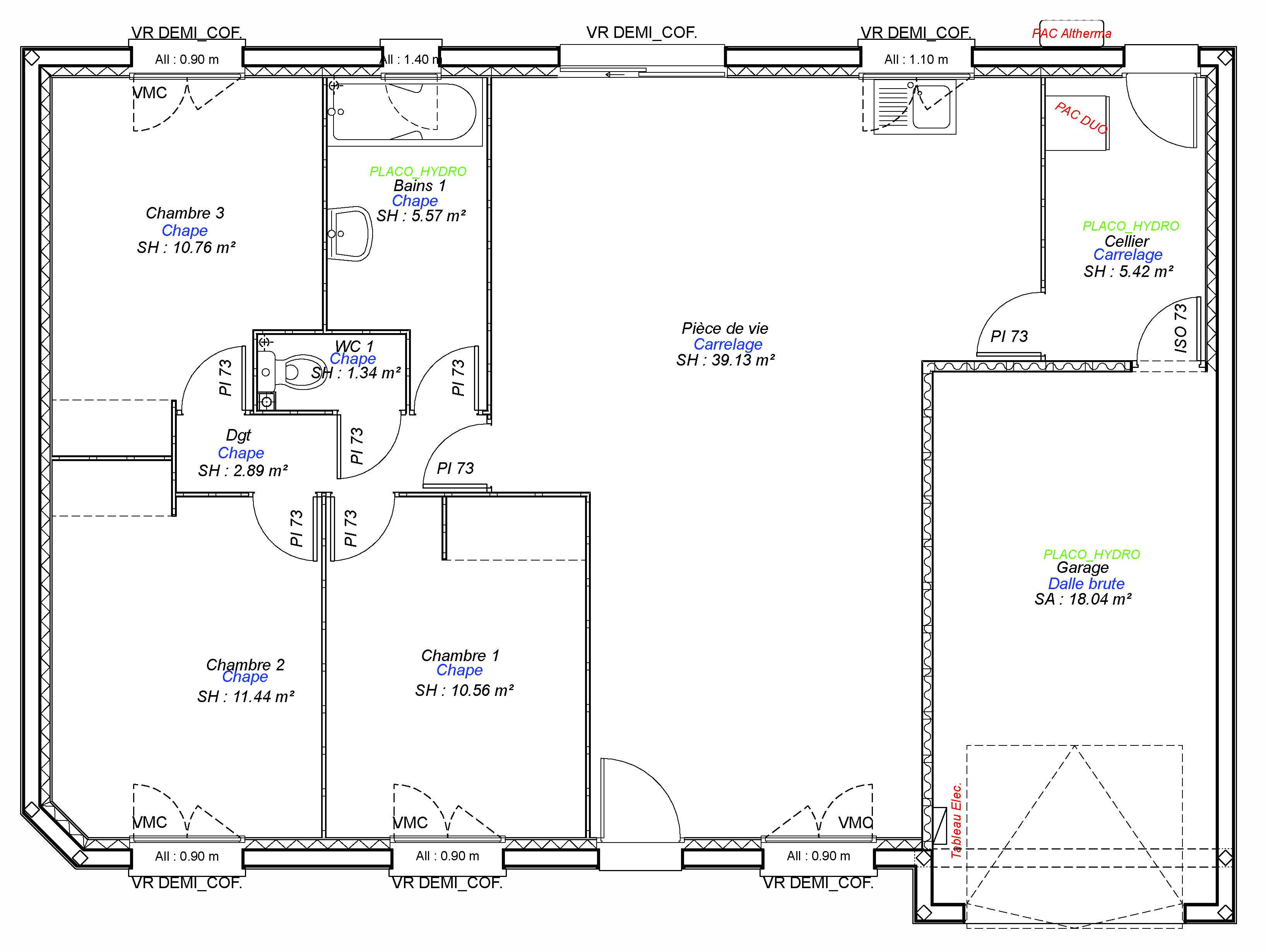 Construction maisons individuelles Caen-COZI-AXCESS 3CH+GI 87 M²-3
