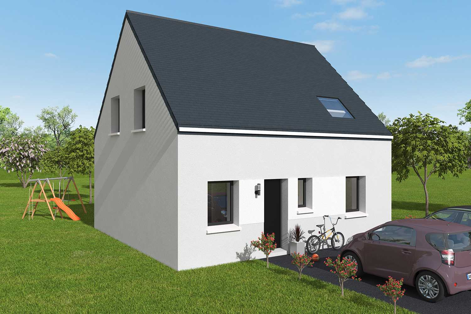Construction maisons individuelles Caen-MARGOT 1CH+CA 92 M² P1980