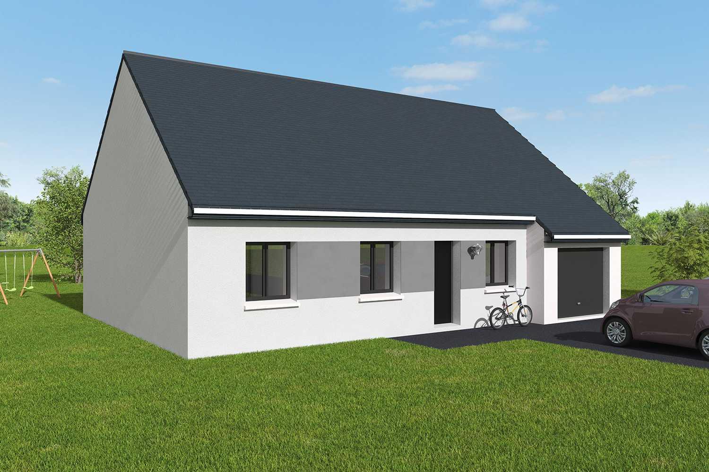 Construction maisons individuelles Lisieux-COZI 3CH+GI 87 M² AV P2356