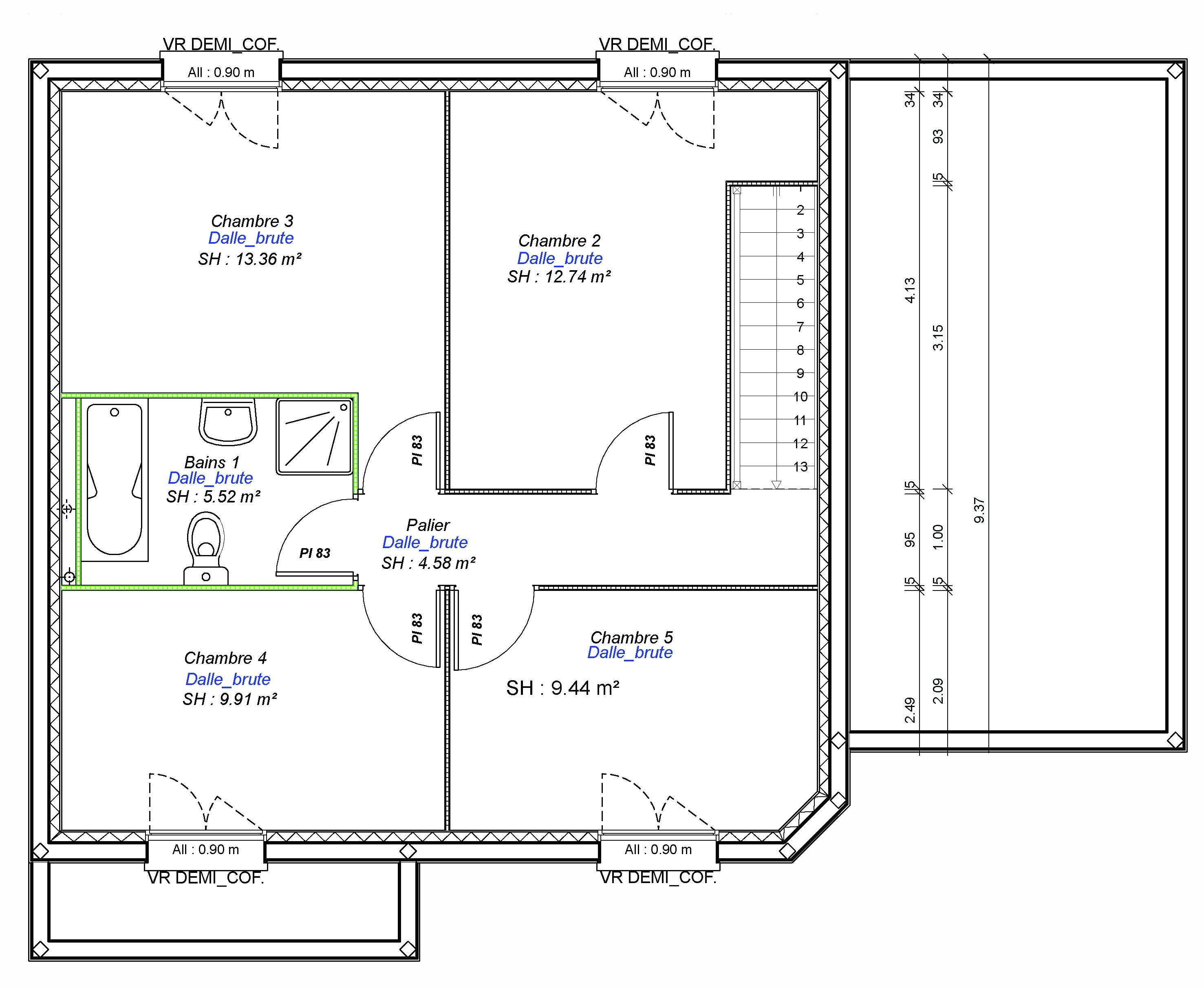 Construction maisons individuelles Lisieux-EXCLUSIVE-AXCESS 5CH+G 120 M² etage
