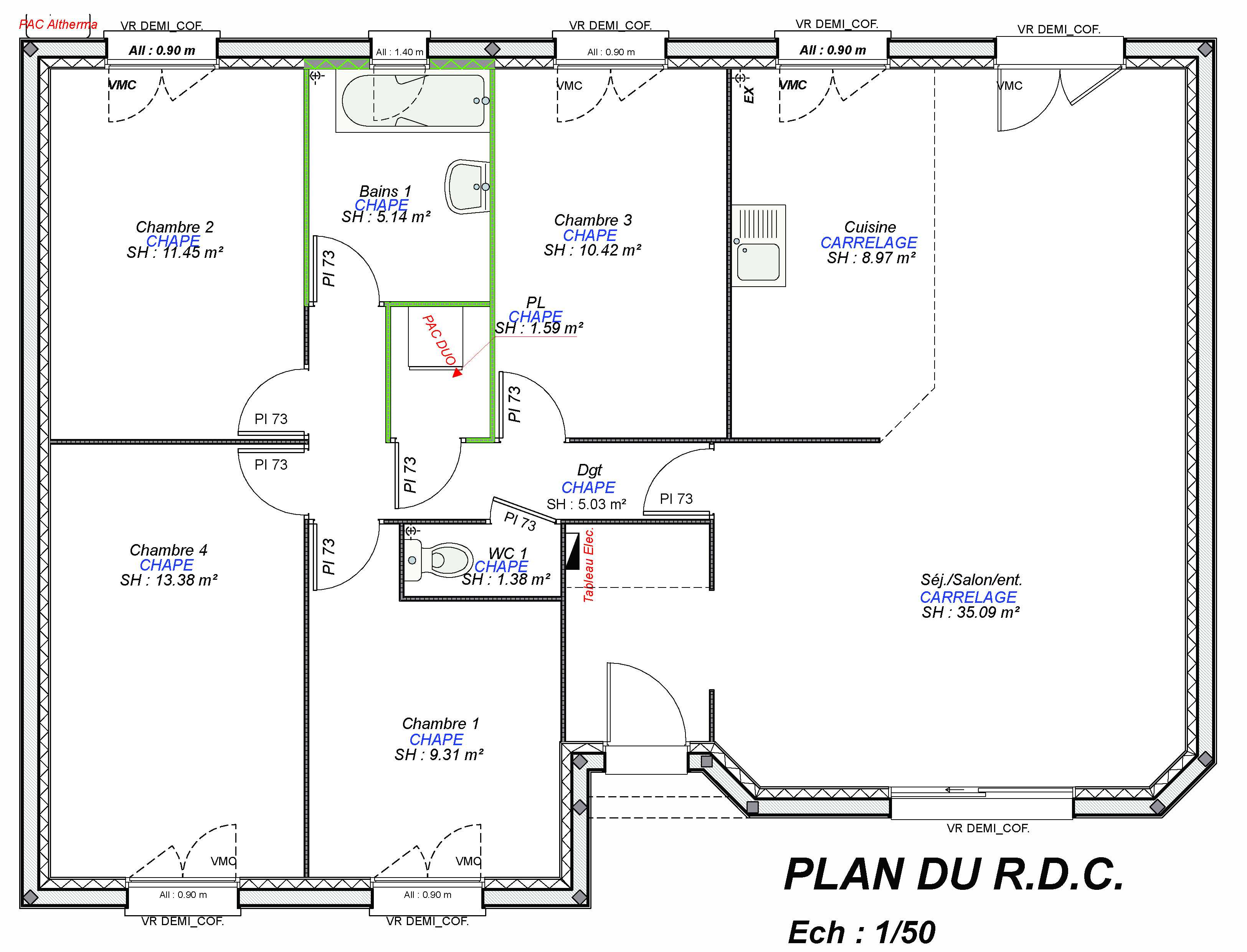 Construction maisons individuelles Lisieux-LOUNGE-AXCESS 4CH 101 M²-3