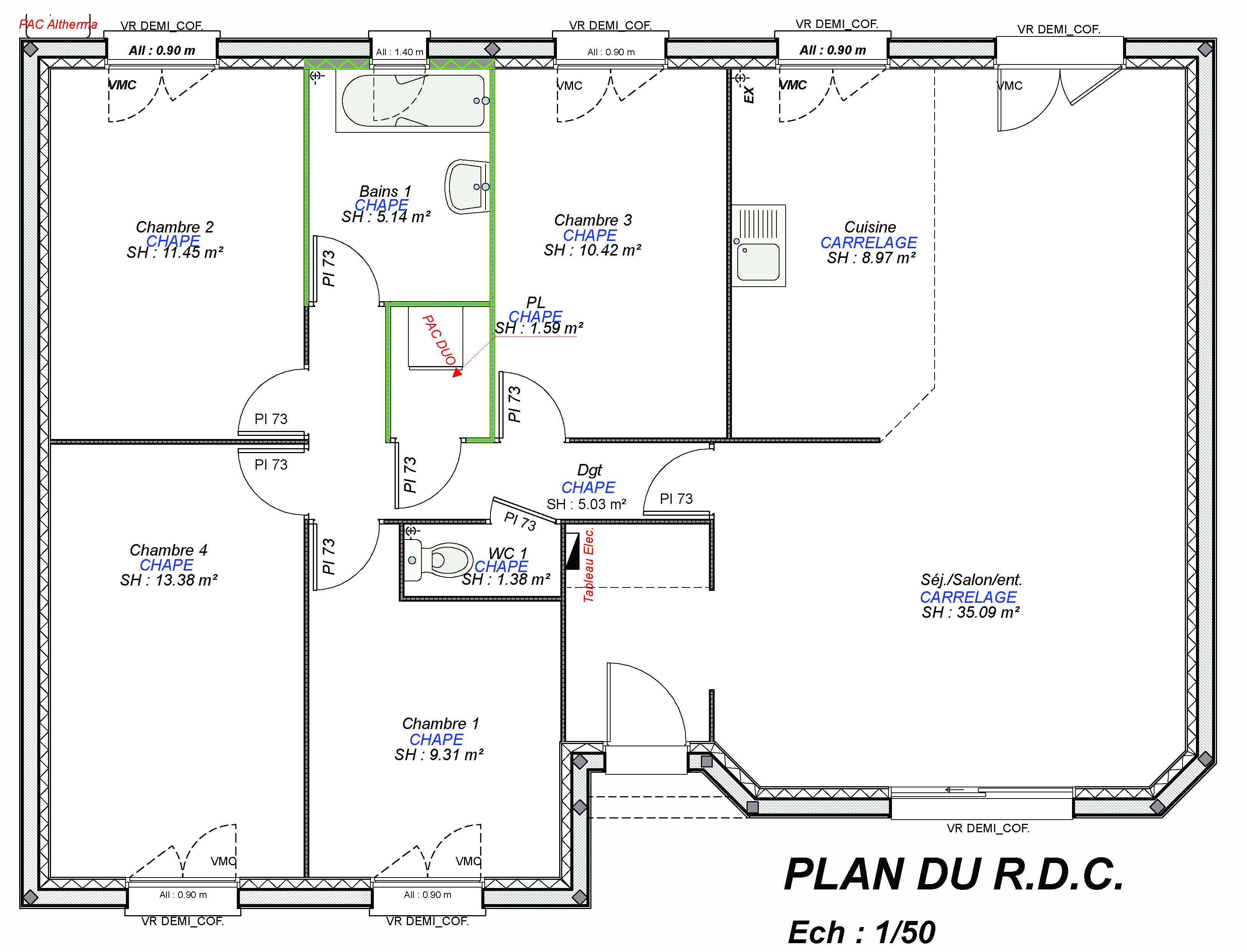 Plan De Maison A 4 Chambres Selection De 7