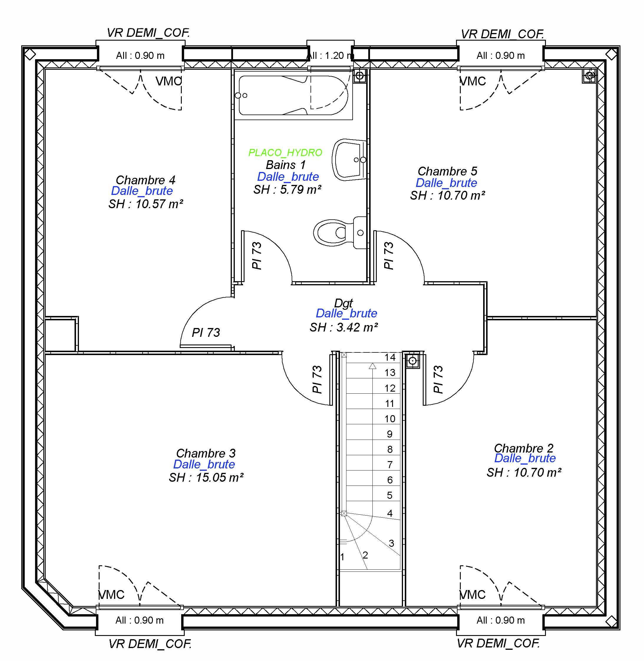 Construction maisons individuelles Lisieux-LOVE-AXCESS 5CH 113 M² etage