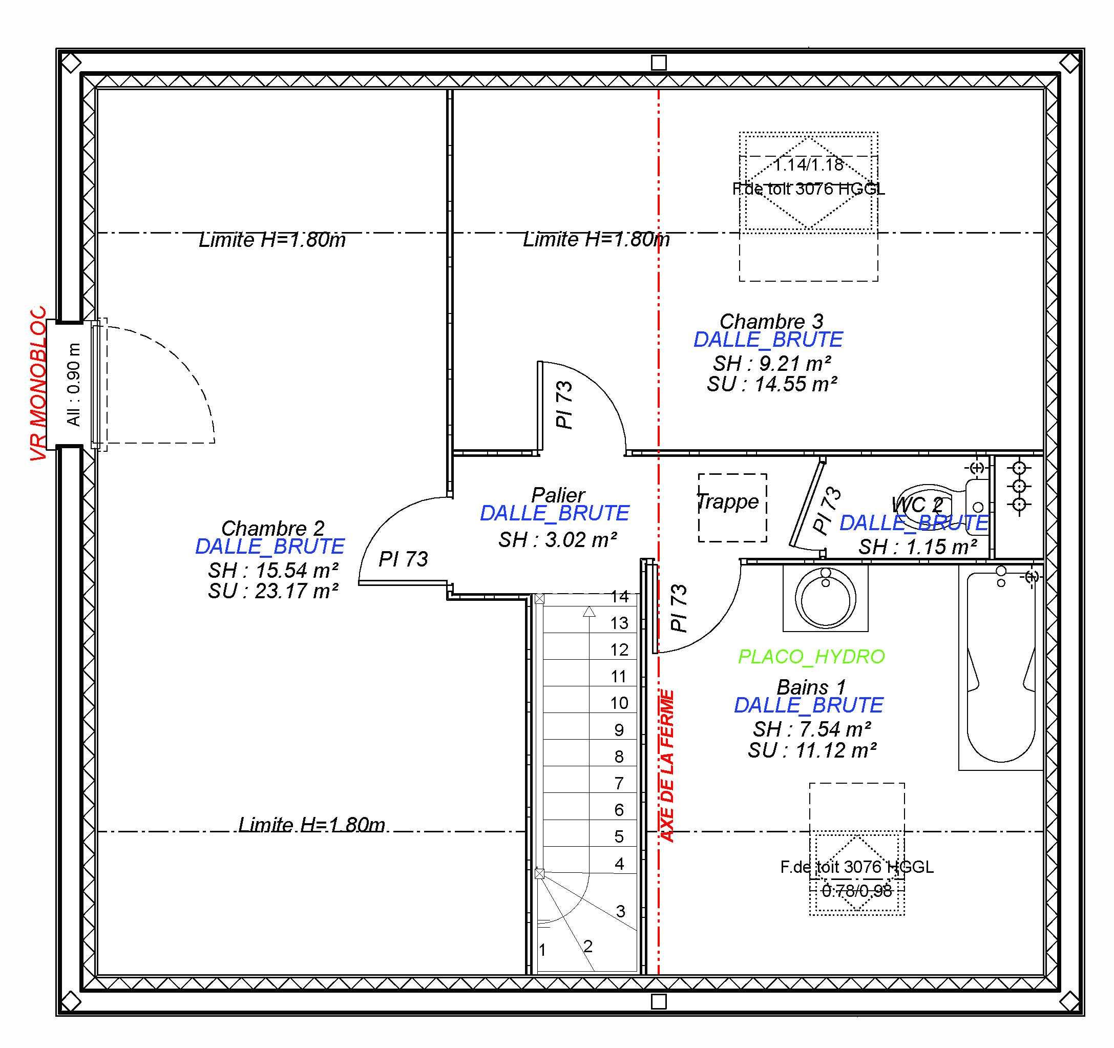 Construction maisons individuelles Lisieux-MARGOT 90 M² étage
