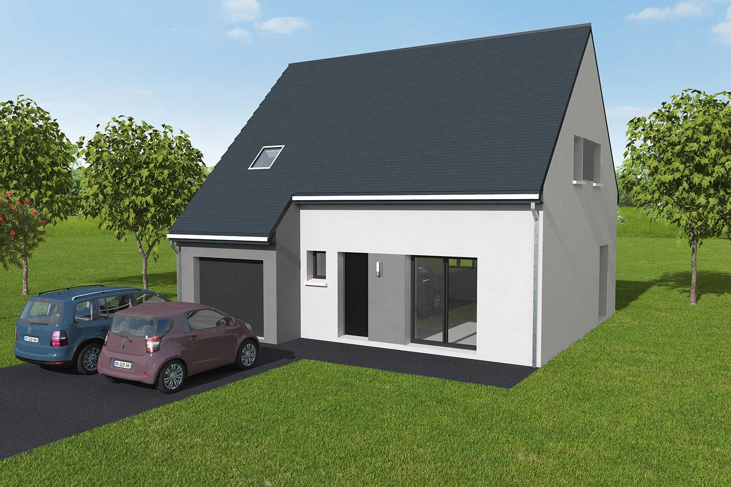 Construction maisons individuelles Lisieux-welcome 4CH+GI 103 M² P2371