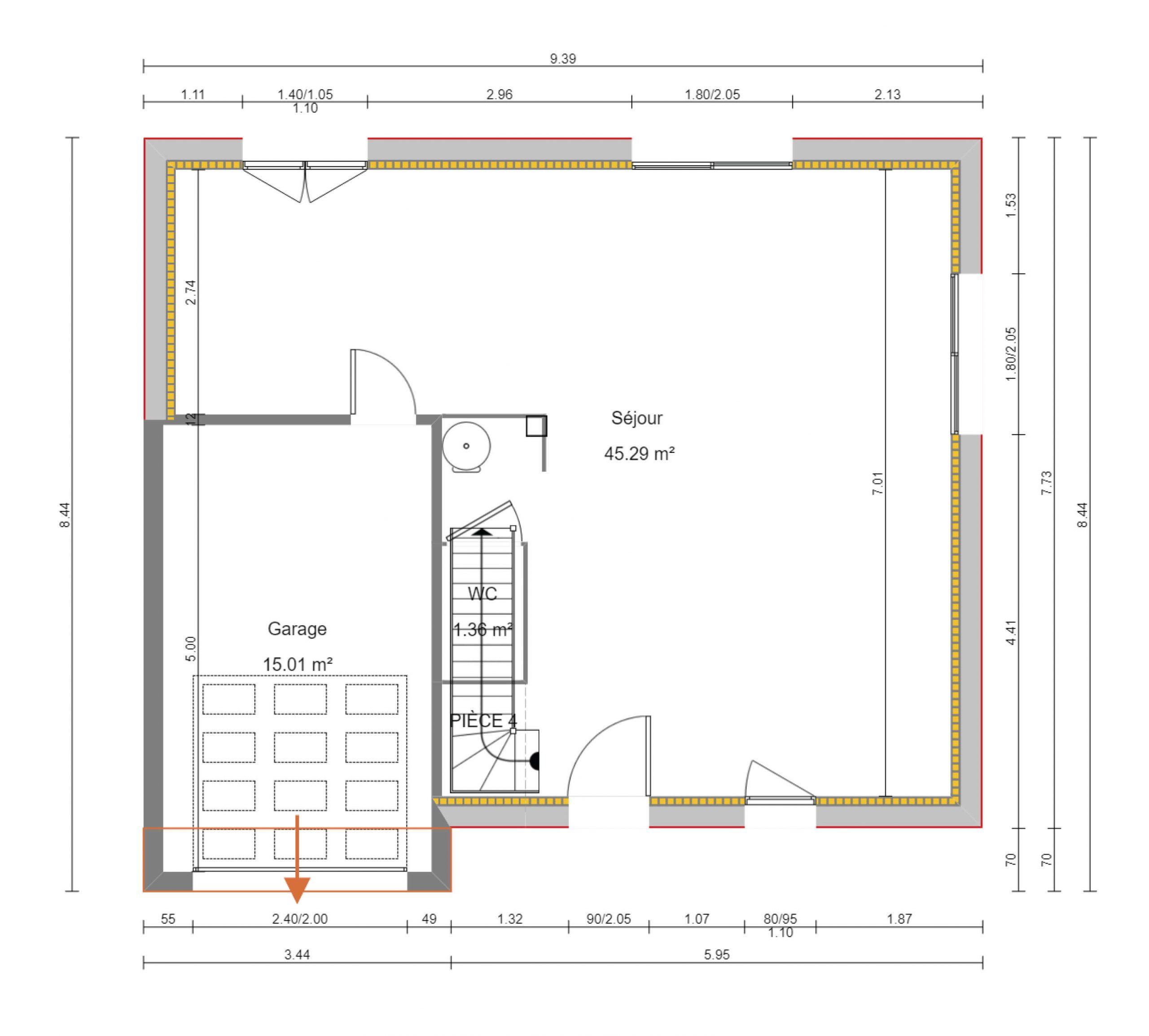 construction-maisons-individuelles-bayeux-Léna-4ch-100m²-plan-rdc